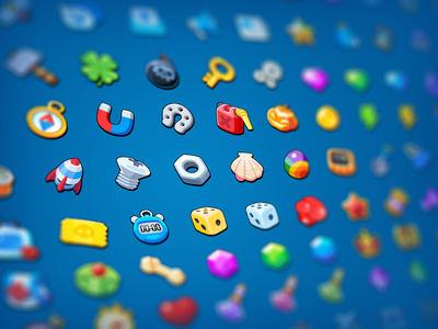 GUI Pro Kit Casual Game Icons market asset ui 2d icon casual game layerlab