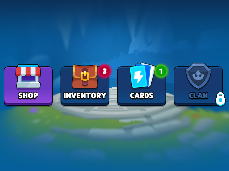 GUI Pro Kit Casual Game Menu clan card inventory shop icon menu market asset ui game casual layerlab