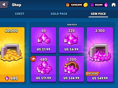 GUI PRO Kit Casual shop gem gem icon shop market asset game casual layerlab