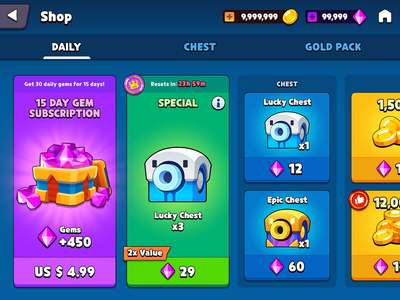GUI Pro Kit Casual  shop chest gold gem asset market shop store box chest icon game casual layerlab