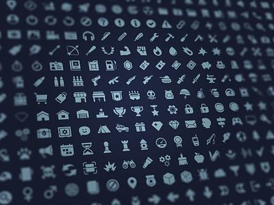 GUI Pro Kit - Survival set icons survivor survival layerlab gui game mobile elements game design assetstore
