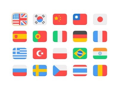 GUI PRO Kit - Simple Casual world icon gui language flags game asset layerlab asset ui