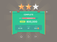 GUI Kit Mono Round Complete Popup