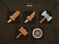 Casual Weapon Icon - Wood