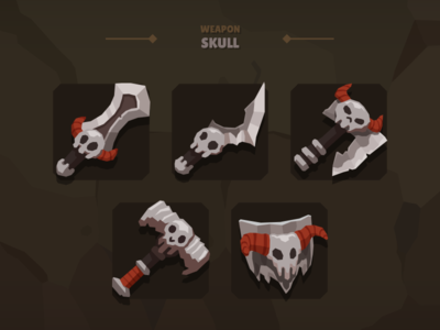Casual Weapon Icon Skull