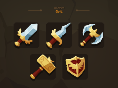 Casual Weapon Icon Gold