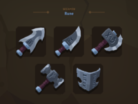 Casual Weapon Icon Rune