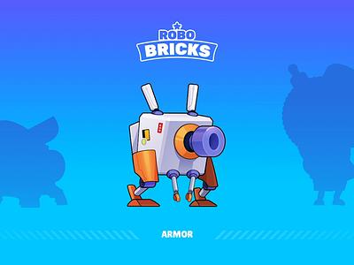 Game - Robo Bricks Character [ARMOR] ball robo character animation brick mobile design game