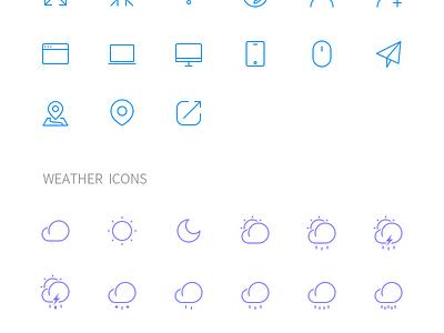 Free 2px Line Icons 2px free icon