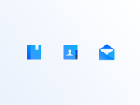 Soft Texture Blue Icons