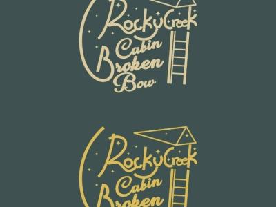 Rocky Creek cabin typography logo