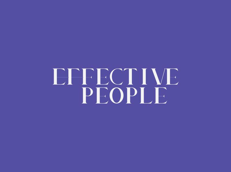 Effective People typogaphy logo