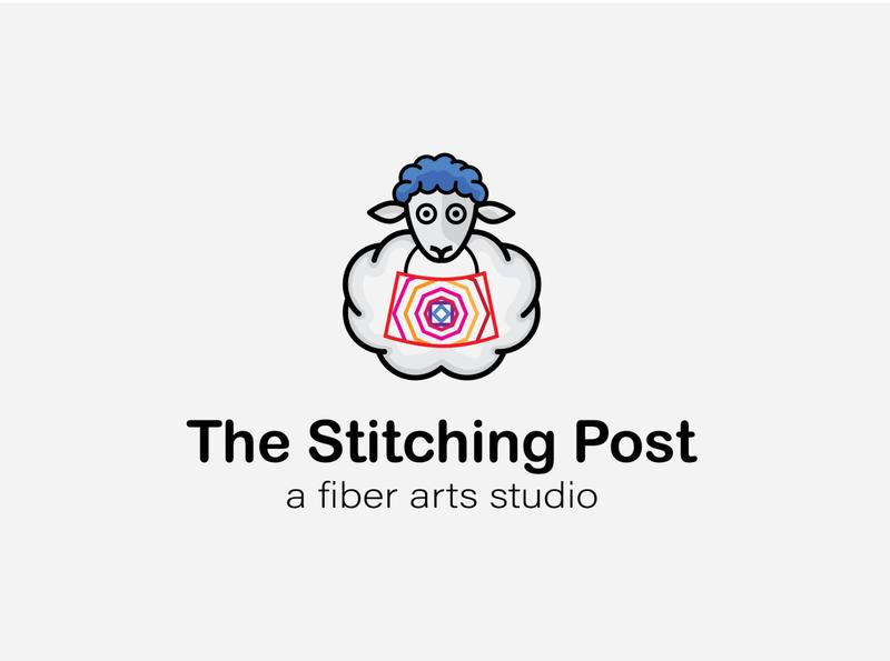 The Stitching Post logo design