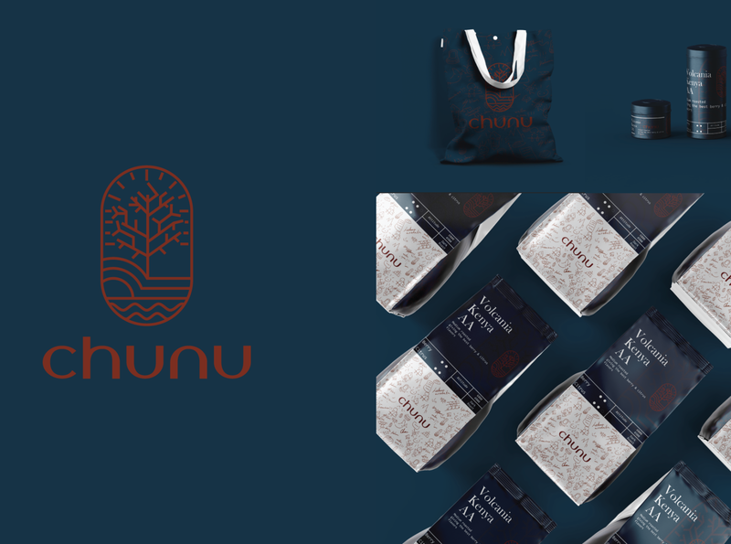 Chunu Coffee typography logo design brand design