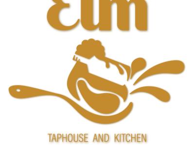 The Elm Restaurant logo design