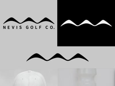 Nevis Golf Co logotype brand identity logo