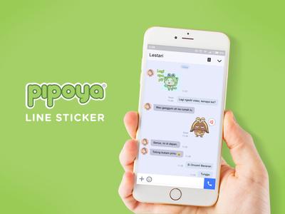 Pipoya® Line Sticker