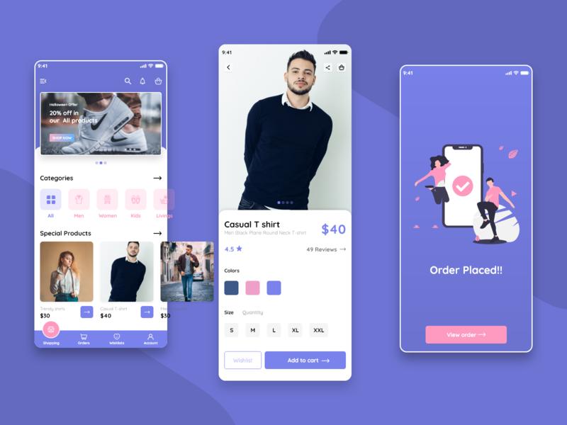 Shopping App ecommerce design uiux ecommerce