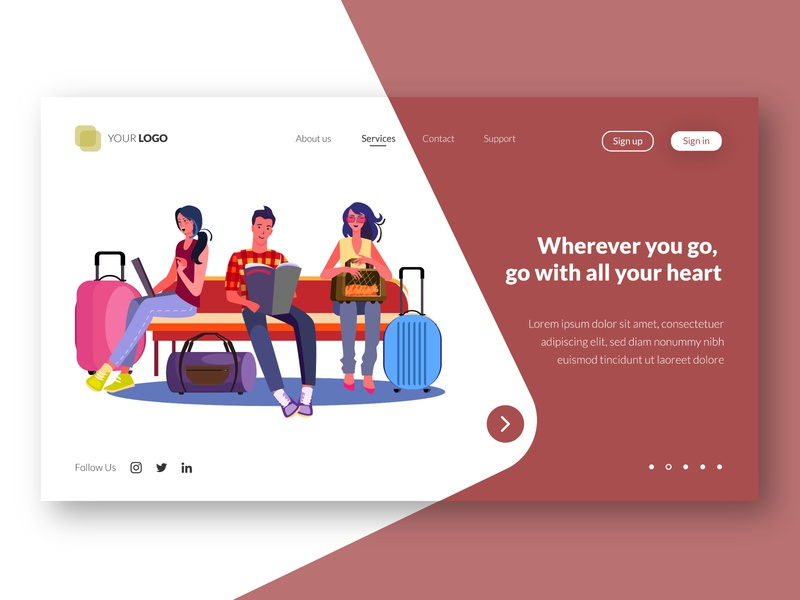 Travel - web landing page template