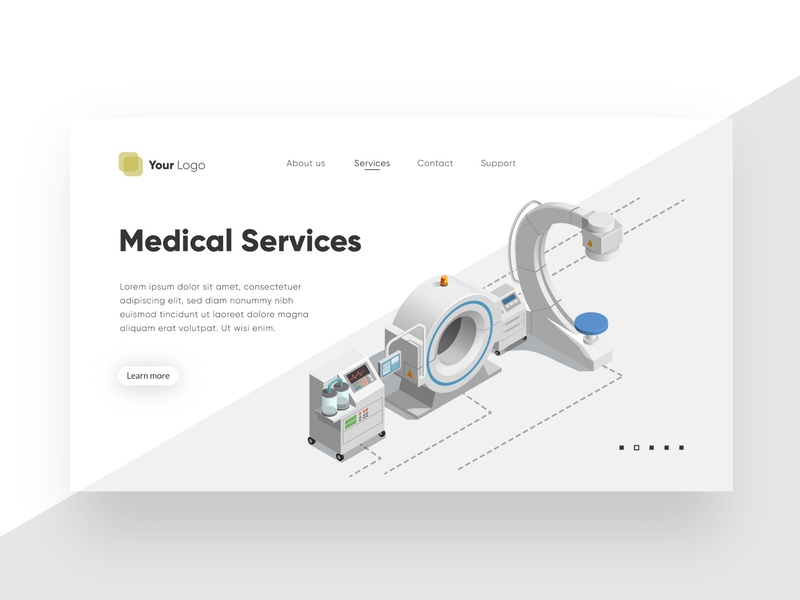 Medical service - Landing page template