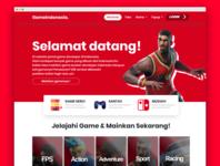 GameINA - Landing Page Websites ui website web development web design ux illustration design web