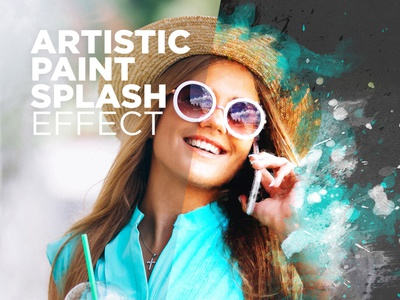 Free Photoshop Actions Artistic Paint Splash #4 painter effect paint splashes effect watercolor effect artistic paint effect photo effect download photoshop actions free photoshop actions