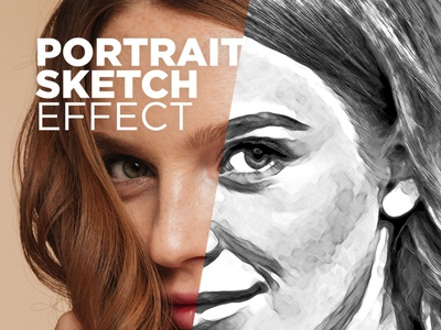 Free Photoshop Action Portrait Sketch Effect #6 sketch effect free photoshop actions photoshop actions photo effect portrait sketch effect