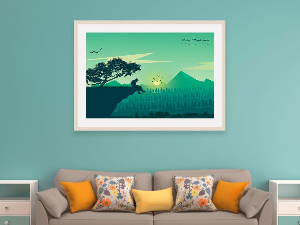 Landscape In Mockup: Depression landscapes landscape illustration landscape design landscape graphic design illustration design creative design