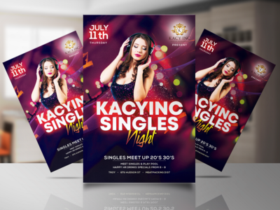 Party Flyer For Fiverr Client: Kacynic Singles Night