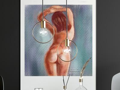 "Digital drawing in ""pastel"" technique типография digital art иллюстрация graphic design"