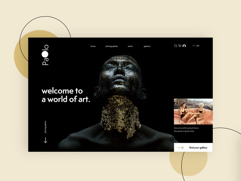 Paolo art photography pattern branding graphic web ui webdesign design