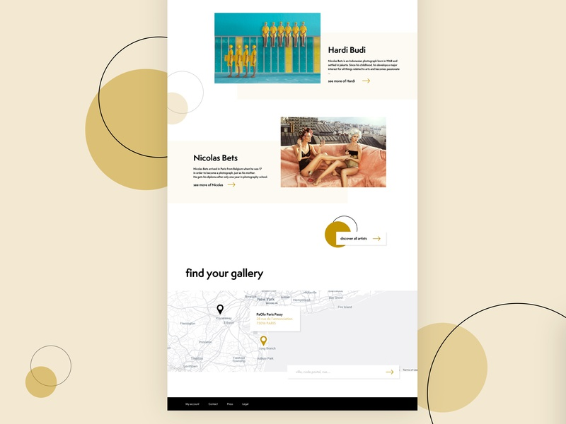 Paolo gallery photography pattern graphic art web ui webdesign design