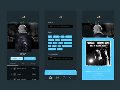 Music App Ui designs, themes, templates and downloadable graphic