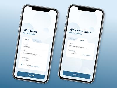 Mobile Sign Up - DailyUI #1 ios mobile ui design app dailyui