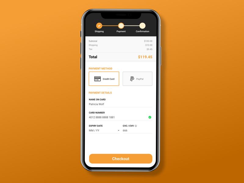 Mobile Checkout - DailyUI #002 ecommerce web vector ui mobile ios dailyui app