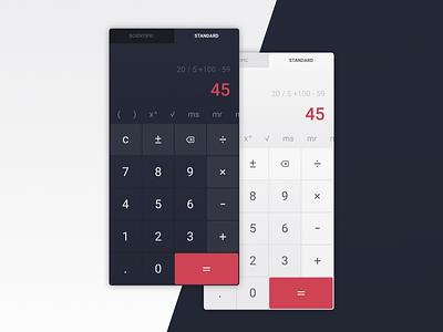 Calculator - DailyUI #004 minimalist calculator app vector daily ui dailyui mobile app