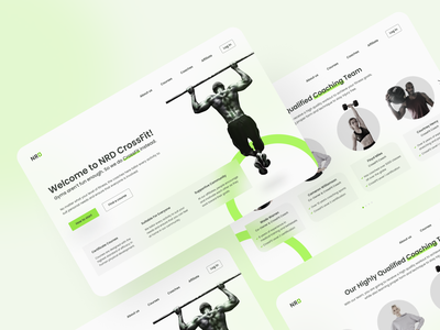 CrossFit Website fit health dynamic active web landing page workout highlight bright strong fitness gym crossfit homepage webdesign website ux ui