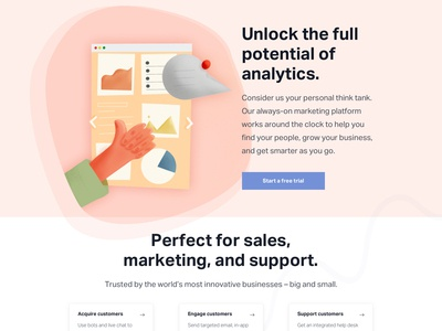 Analytic Homepage Illustration