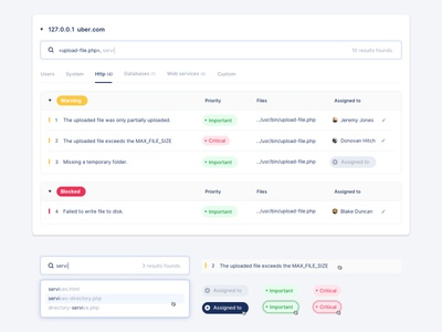 Developer's Logs Application UI