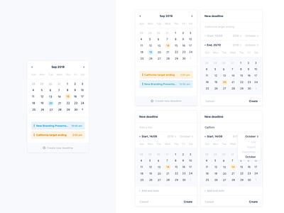 Calendar Animation 🗓 animated gif interactive interaction design deadline interaction calendar ui calendar