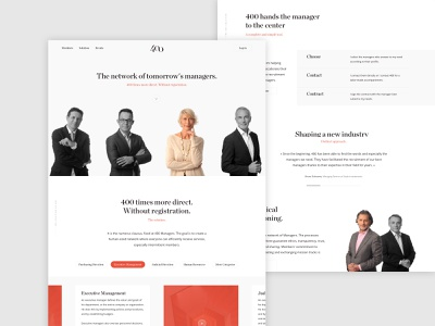 Managers Hiring Homepage homepage recruiting recruiter website webdesign hiring managers