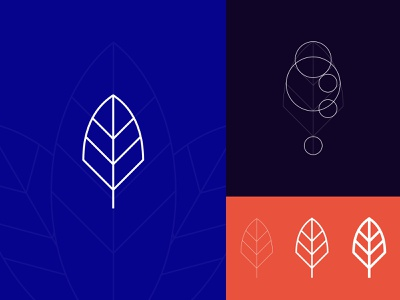 Leaf Logo brand design branding goldenratio minimalist logo leaf logo logodesign logo