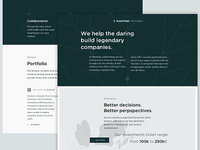 Homepage Venture Capital ui minimalist illustrations green venture capital venture homepage