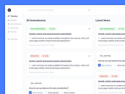 Timeline Dashboard webapp clean justice law dashboard timeline