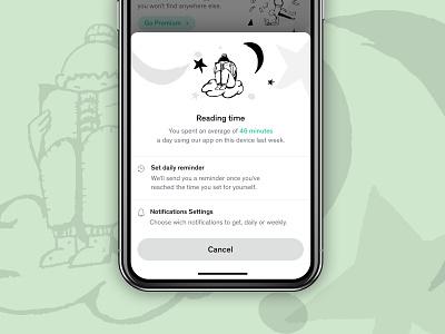 Newsfeed Settings iOS mobile ui ui illustrations settings mobile app newsfeed ios