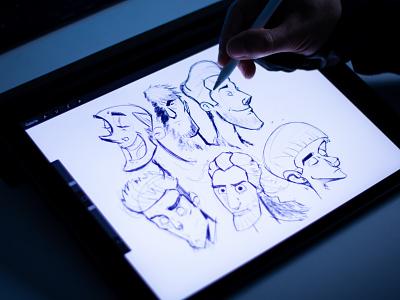 Drawing Faces Illustration draw illustration design sketch doodle illustration faces drawing