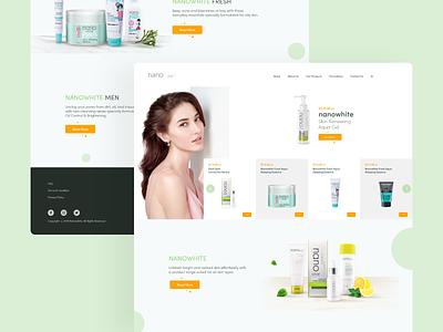 Nano white Homepage webapp design uidesign uiux ui web design homepage webdesign