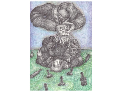 acqua culto ideale idea disegno drawings zeichnen kulturista götter dei critique filosophie environmental design pencil illustration fantasie drawing art