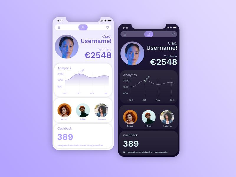 Financial account iphone x graph dailyui006 ui  ux bank account bank app finances app dailyui