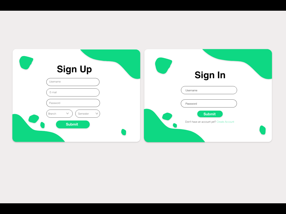 Sign in and sign up UI design lrm uidesign uxdesign minimal website app web ui dailyui login signup lms sign in ui user interface sign in sign up ui design web design design app design
